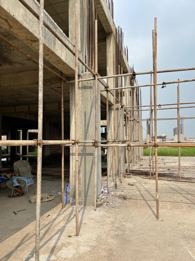 Progress of Lahore Grand Bazaar